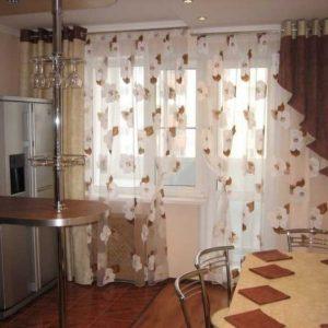 Шторы на кухню с балконной дверью — 140 фото новинок эксклюзивного дизайна и сочетания