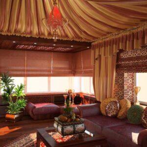 Восточные шторы — 120 фото дизайна. Примеры удачного сочетания и выбора модели штор